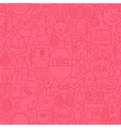 Thin Line Happy Easter Seamless Pink Pattern vector image