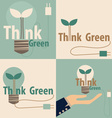 Think green Eco concept Light bulb with tree