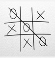 tic tac toe hand drawn game on a white vector image vector image