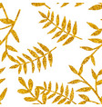 tile tropical pattern with golden exotic leaves vector image vector image