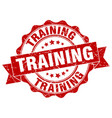 training stamp sign seal vector image vector image