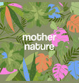 tropical leaves dense jungle background with vector image vector image