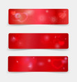 valentine day banner template with hearts and vector image vector image
