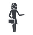 woman pictograph cartoon vector image