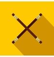 Wooden sword bokken flat icon vector image vector image