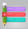 infographics pencil template concept vector image