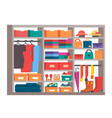 wardrobe clothes storage closet vector image
