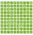 100 beauty salon icons set grunge green vector image vector image