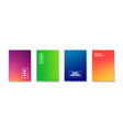 abstract minimal cover templates colorful vector image