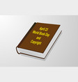 april 23 - world book day and copyright vector image vector image