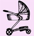 Baby pram vector image