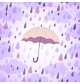 background with an umbrella and rain vector image vector image