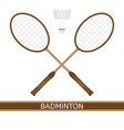 badminton racket and shuttlecock vector image vector image