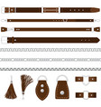 belts silver chains colars vector image