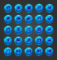 Big set of button for game design vector image vector image