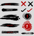 Black and red brush strokes collection vector image