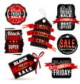 Black Fridays Labels Set vector image