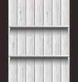 blank wooden shelf vector image