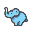 blue funny elephant icon cartoon vector image