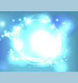 blue light explosion abstract background vector image vector image