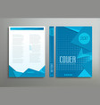 blue template brochure book report business vector image