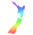 bright dotted new zealand map vector image vector image