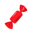 candy in red wrapping closeup vector image
