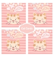 cat set cards vector image vector image