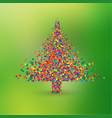 christmas tree made by colorful dots vector image