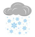 cloud with falling snowflakes vector image