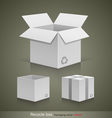 Collection recyele white box vector image vector image