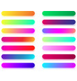 colorful long icon templates isolated on white vector image vector image
