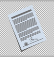 contract on the isolate background vector image