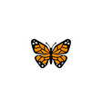 creative orange butterfly logo vector image