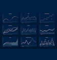data graphic charts maths coordinates graph vector image vector image