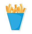 delicious french fries isolated icon vector image vector image