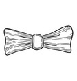 design bow icon hand drawn style vector image vector image