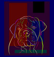 dog 5 vector image vector image
