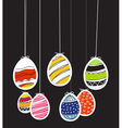 Easter eggs on rope vector image vector image