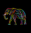 elephant shape made from tree branches vector image vector image