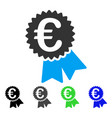 Euro featured price tag flat icon vector image