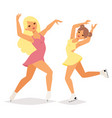 figure ice skater cartoon trick figure vector image vector image