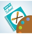 Flat about back to school design vector image vector image