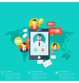 Flat mobile phone icon Communication concept vector image vector image