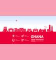 ghana travel destination vector image vector image