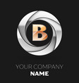golden letter b logo symbol in the circle shape vector image vector image