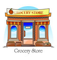 grocery shop or natural goods store food market vector image vector image