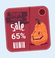 halloween sale poster holiday seasonal discount vector image