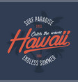 hawaii surf typography vector image vector image