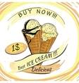 Ice Cream with price Popsicle on a white vector image